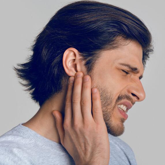 Gehör schmerzen Mann