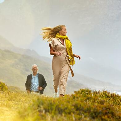 Frau laufen