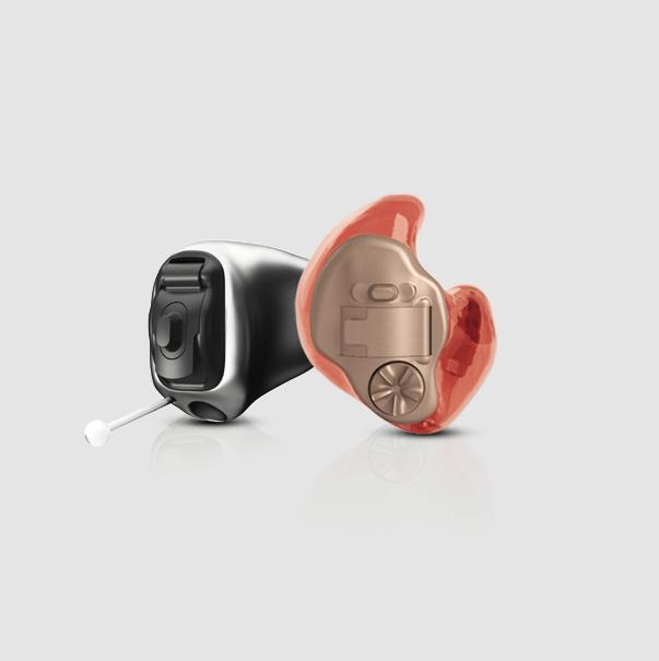 Phonak Hörgeräte schwarz orange
