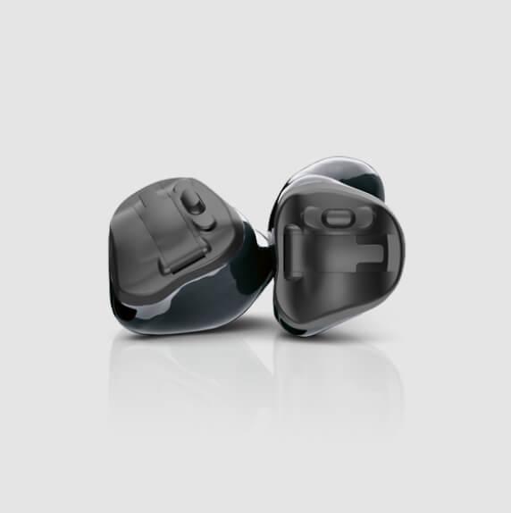 Schwarz klein Hörgeräte